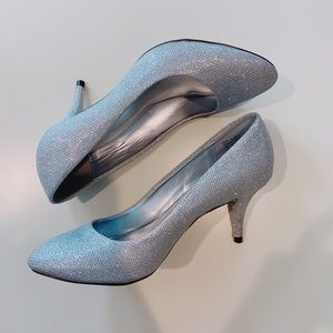 CALL IT SPRING Silver Sparkle Glitter Heels